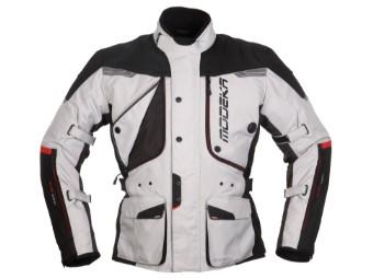 Textiljacke 3in1 Modeka Aeris hellgrau-schwarz