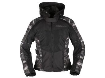 Textildamenjacke Modeka Couper 2 Lady schwarz-camouflage