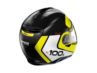 Klapphelm Nolan N100-5 Plus Distinctive N-COM Black Yellow