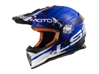 Crosshelm LS2 MX437 Gator blue