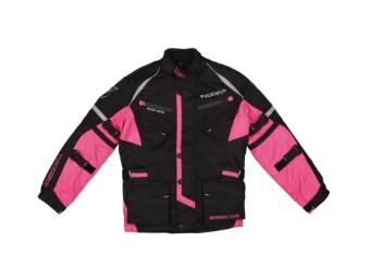 Kinderjacke Modeka Tourex II Kids schwarz-pink