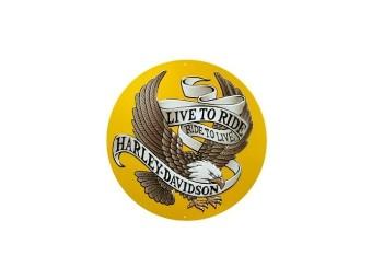 "Blechschild ""H-D Live To Ride Eagle"""