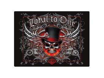 """Blechschild """"H-D Loyal To One Skull"""""""