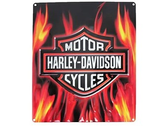 """Blechschild """"H-D Flame Logo"""""""