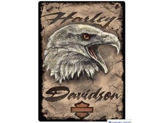 """Blechschild """"H-D Eagle Card Sign"""""""