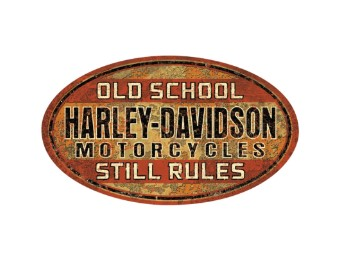 """Blechschild """"H-D Old School Rules"""""""