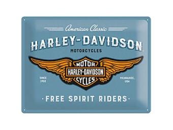 "Blechschild ""Free Spirits Riders"""
