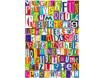 """Geburtstagskarte """"Alles Gute"""""""