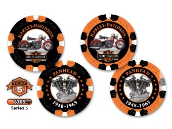 """Poker Chips """"H-D Limited Serie 5"""