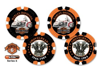 """Poker Chips """"H-D Limited Serie 6"""""""