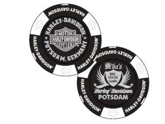 "Pokerchip ""H-D Potsdam B/W"