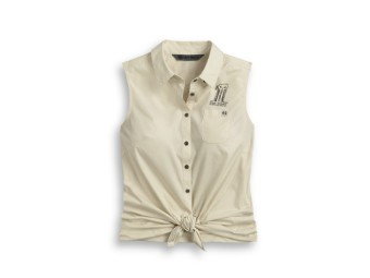 """Bluse """"#1 Skull Tie -Front"""""""