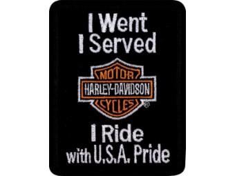 "Aufnäher ""I Served I Ride"""