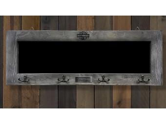 Barnwood Chalkboard Holzbild mit Haken und Tafel