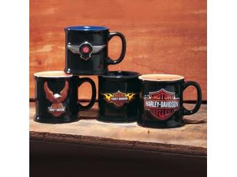 H-D Mug Shots 4er Set