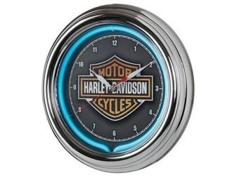 "Wanduhr ""H-D Essential B&S Neon Clock 220V"""