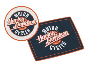 """2er Glas Choping Board """"H-D Motorcycles"""""""