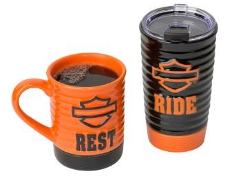 "Reisebecher / Tassen Set ""H-D Ride & Rest"""