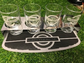 "Glas Set ""H-D Rider Tasting Board"""
