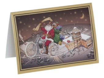 "Weihnachtskarte "" Biker Santa Holiday Card"""
