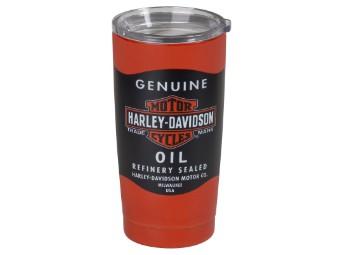 "H-D Travel Mug ""Oil Can"""