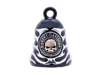 """Ride Bell """"Skull & Flame Black"""""""