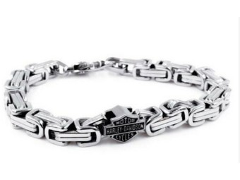 """Armband """"H-D Steel Double Link"""""""