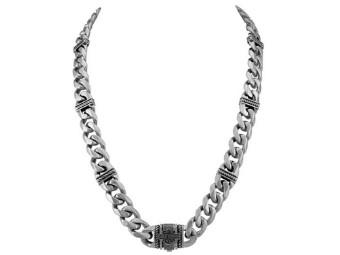 "Halskette ""Steel Curb Link B&S"""