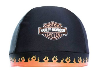 "Skull Cap ""Orange Flames B&S"""