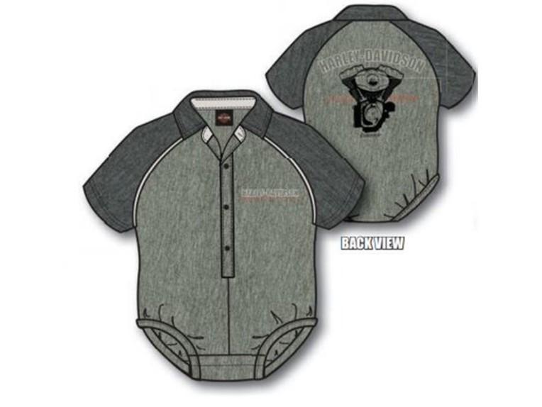 "3053005-0-3, Boys Baby Body ""Shop Shirt"""