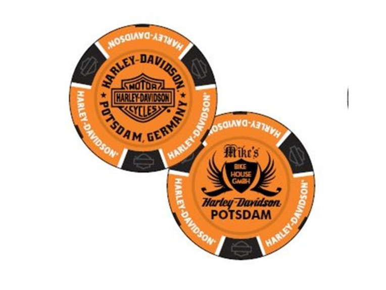"69702, Poker Chip ""H-D Potsdam Orange"""