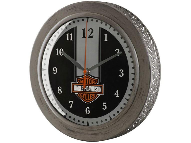 HDX-99176, H-D Metal Tire Tread B&S Clock - 220