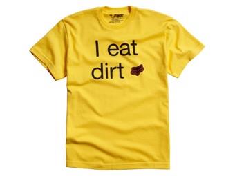 BOYS I eat Dirt Tee 13 yellow