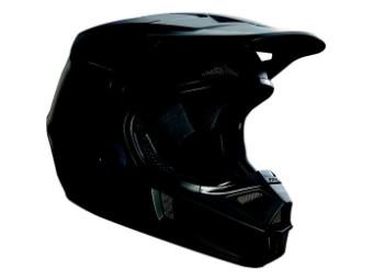 Youth V1 Matte Black Helmet