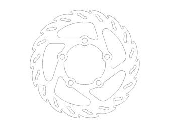 Bremsscheibe hinten KTM 50SX Bj.02-13