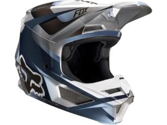 Youth V1 Motif Helmet - blue / grey