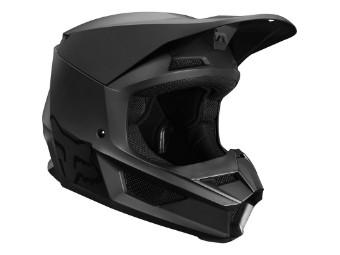Youth V1 Matte Black Helmet 20