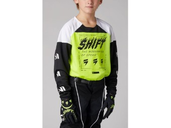 Youth White Label Flame Jersey