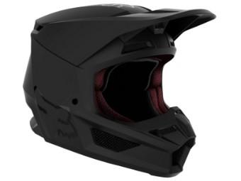 Youth V1 Matte black Helmet 21