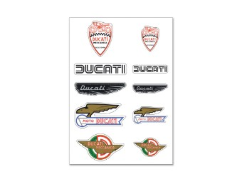 Aufkleber Ducati Historical Mix