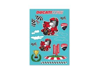 Aufkleber Ducati Cartoon