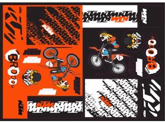 Team Graphic KTM Sticker Sheet
