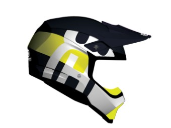 Moto-10 Spherical Railed Husqvarna Helm