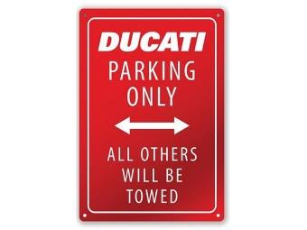 Metallschild Ducati Parking