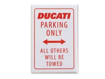 "Metallschild ""DUCATI Parking only"""