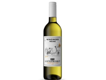 "Weißwein ""Luftgekühlt"" Vespa Motiv"