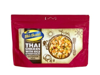 Thai-Hühnchen mit Reis und Gemüse