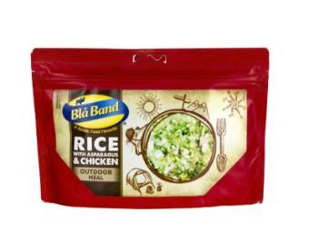 Reis mit Spargel und Huhn