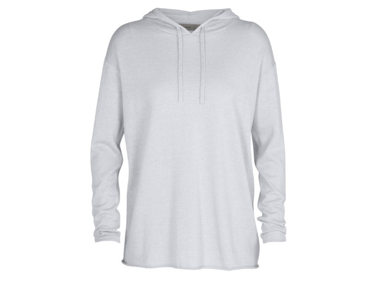 105369-046-S, Flaxen LS Hooded Pullover Sweater W